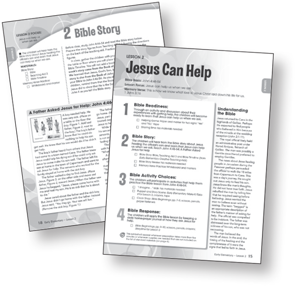 Sunday school lessons for children Bible-in-Life early-elementary teacher guide